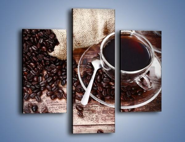 Obraz na płótnie – Kawa po dobrej stronie stołu – trzyczęściowy JN725W3