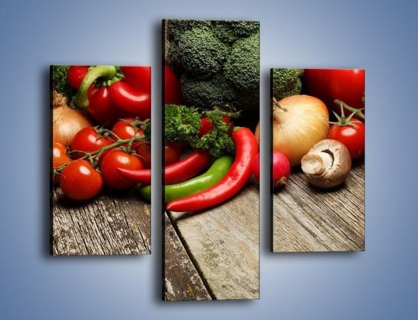 Obraz na płótnie – Warzywa w roli głównej – trzyczęściowy JN726W3
