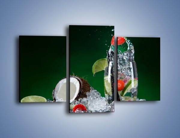 Obraz na płótnie – Szklanka wody z owocową bombą – trzyczęściowy JN729W3