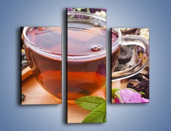 Obraz na płótnie – Herbata wśród suszonych kwiatów – trzyczęściowy JN740W3