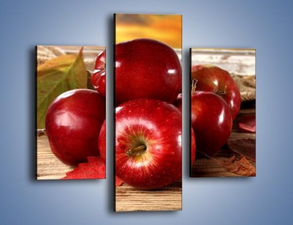 Obraz na płótnie – Dojrzałe jabłka porą jesienną – trzyczęściowy JN741W3
