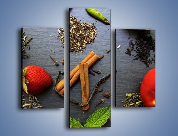 Obraz na płótnie – Owoce wśród ziół – trzyczęściowy JN747W3