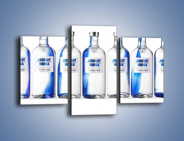 Obraz na płótnie – Czysta wódka w butelkach – trzyczęściowy JN748W3