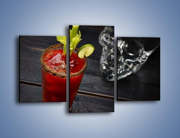 Obraz na płótnie – Czerwony drink z selerem – trzyczęściowy JN751W3