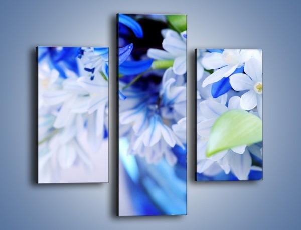 Obraz na płótnie – Kwiaty dla królowej śniegu – trzyczęściowy K004W3