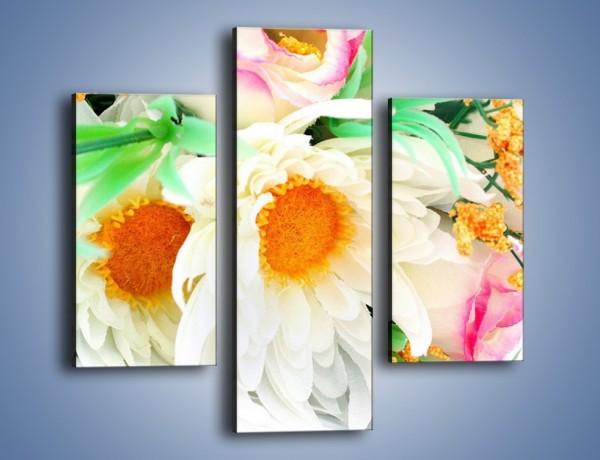 Obraz na płótnie – Róża wśród bieli – trzyczęściowy K085W3