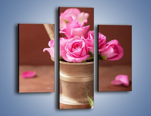 Obraz na płótnie – Różyczki dla małej dziewczynki – trzyczęściowy K1000W3