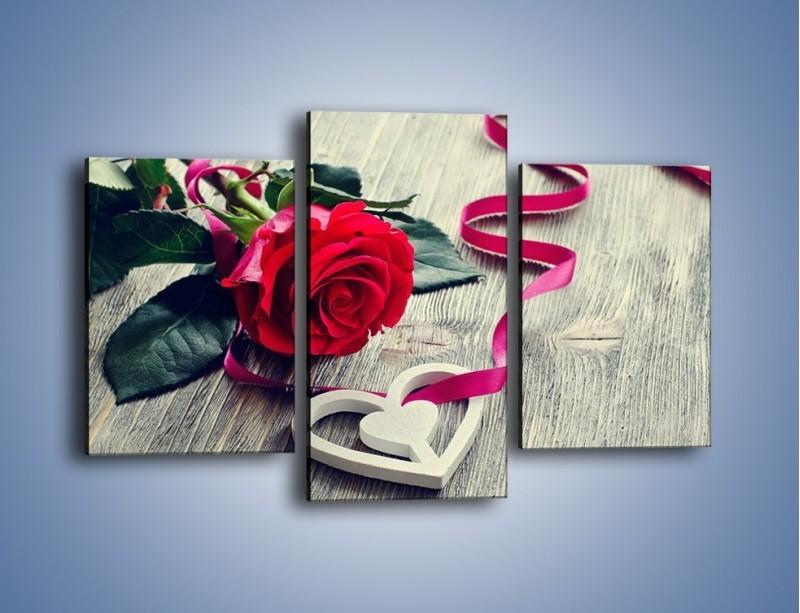 Obraz na płótnie – Od serca aż po różę – trzyczęściowy K1013W3