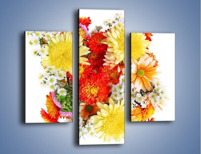 Obraz na płótnie – Bukiecik kwiatów z ogródka – trzyczęściowy K118W3