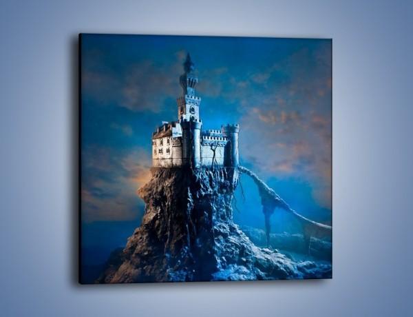 Obraz na płótnie – Zamek nad przepaścią – jednoczęściowy kwadratowy GR467