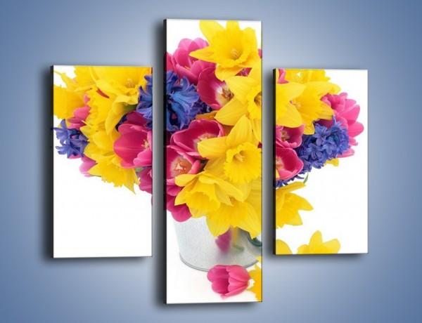 Obraz na płótnie – Kolorowy wazon – trzyczęściowy K277W3