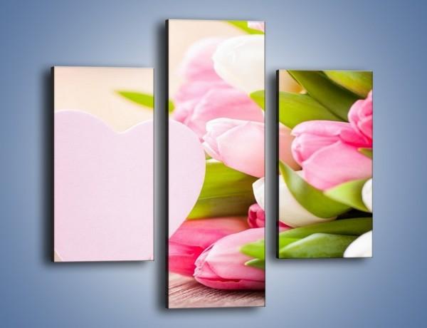 Obraz na płótnie – Miłość do tulipanów – trzyczęściowy K292W3