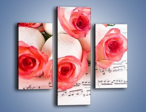 Obraz na płótnie – Najpiękniejsze melodie wśród róż – trzyczęściowy K377W3