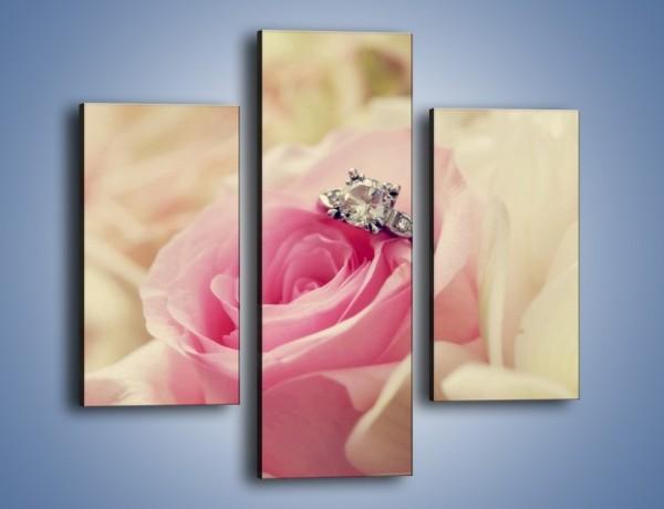 Obraz na płótnie – Związek z różą na zawsze – trzyczęściowy K393W3