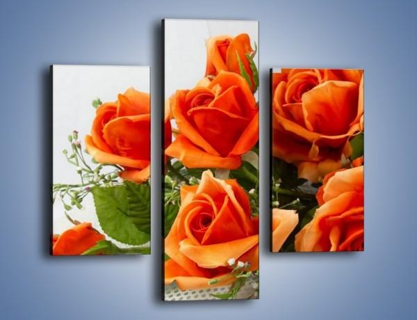Obraz na płótnie – Róża pełna nadziei – trzyczęściowy K399W3