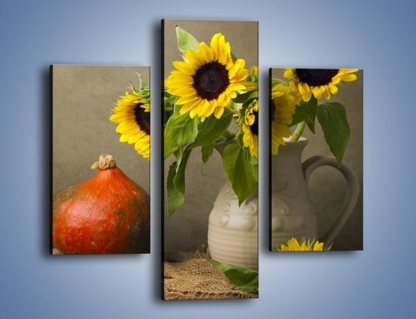 Obraz na płótnie – Słoneczniki w gospodzie wiejskiej – trzyczęściowy K419W3