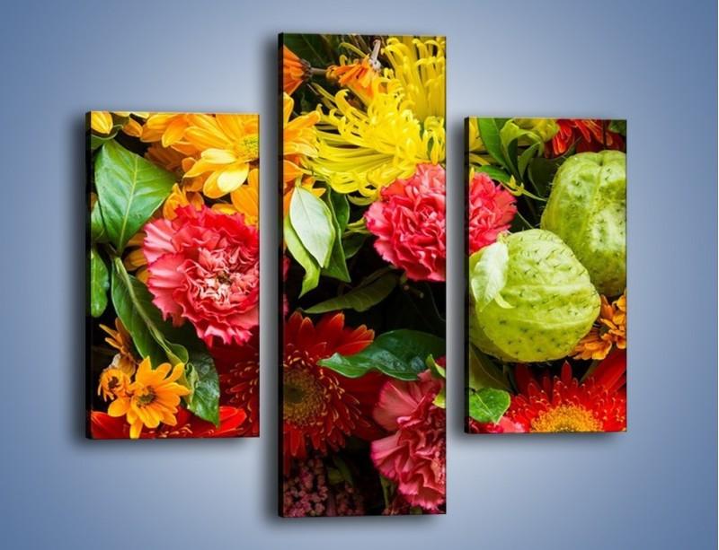 Obraz na płótnie – Bukiet pełen soczystych kolorów – trzyczęściowy K461W3