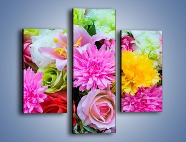 Obraz na płótnie – Wszystkie kwiaty lata – trzyczęściowy K464W3