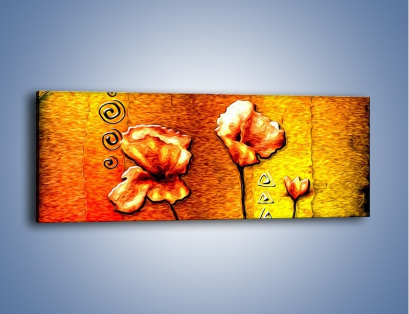 Obraz na płótnie – Maki z dodatkami – jednoczęściowy panoramiczny GR574