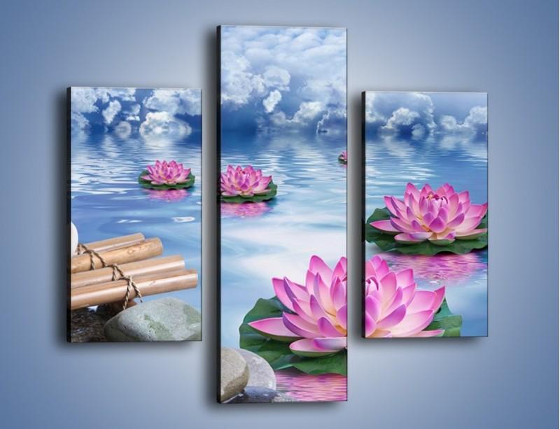 Obraz na płótnie – Baśniowy świat kwiatów – trzyczęściowy K624W3