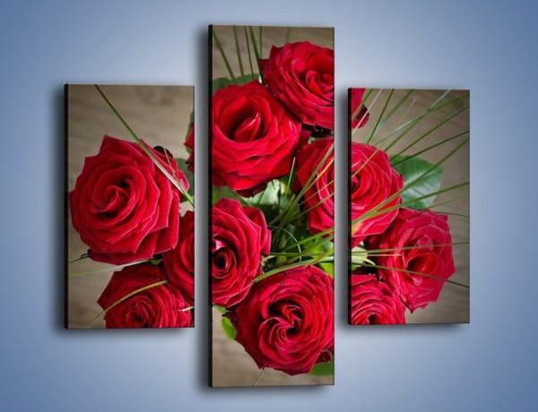 Obraz na płótnie – Pospolita wiązanka z róż – trzyczęściowy K864W3