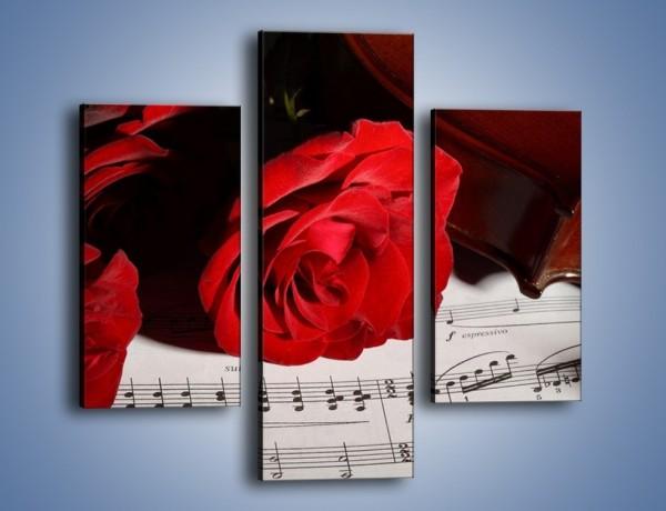 Obraz na płótnie – Sonety pisane miłością do róż – trzyczęściowy K906W3