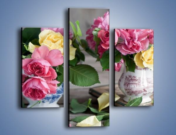 Obraz na płótnie – Róże ścięte nożycami – trzyczęściowy K992W3