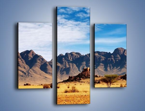 Obraz na płótnie – Góry w pustynnym krajobrazie – trzyczęściowy KN030W3