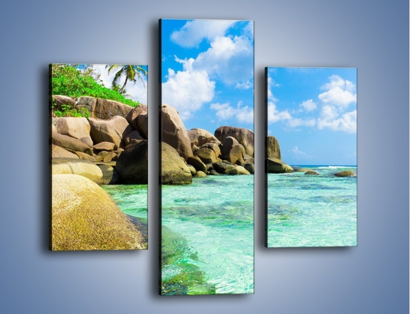 Obraz na płótnie – Lazurowa woda w tropikach – trzyczęściowy KN035W3