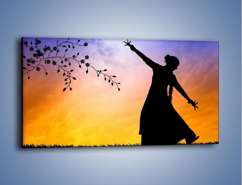 Obraz na płótnie – Wieczorny cygański taniec – jednoczęściowy panoramiczny GR597