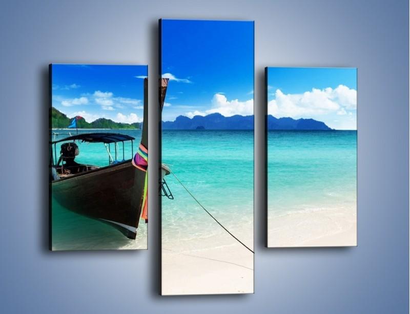 Obraz na płótnie – Wodny transport w tajlandii – trzyczęściowy KN083W3