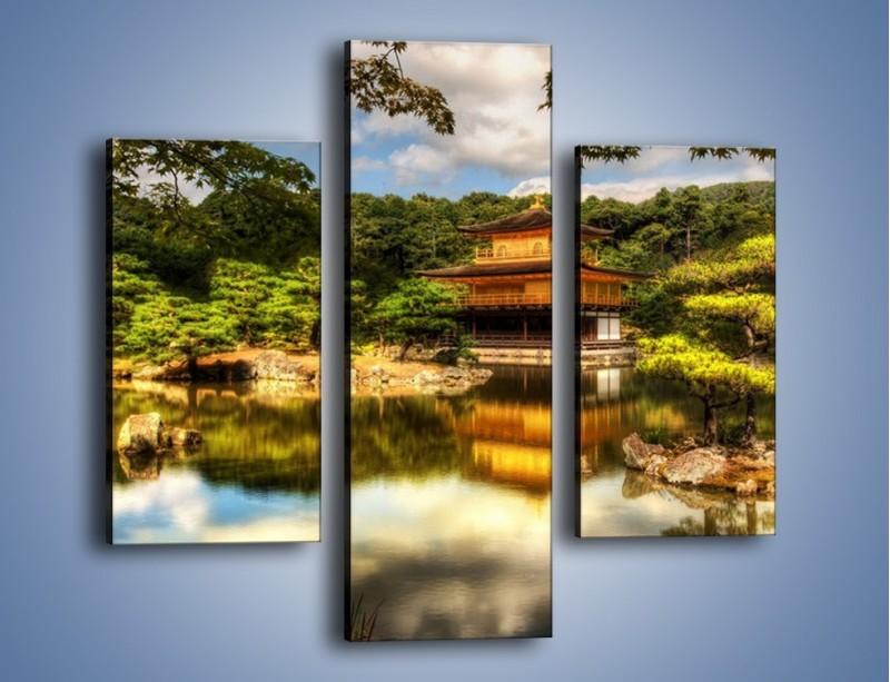 Obraz na płótnie – Widok z domu na wodę – trzyczęściowy KN1030W3