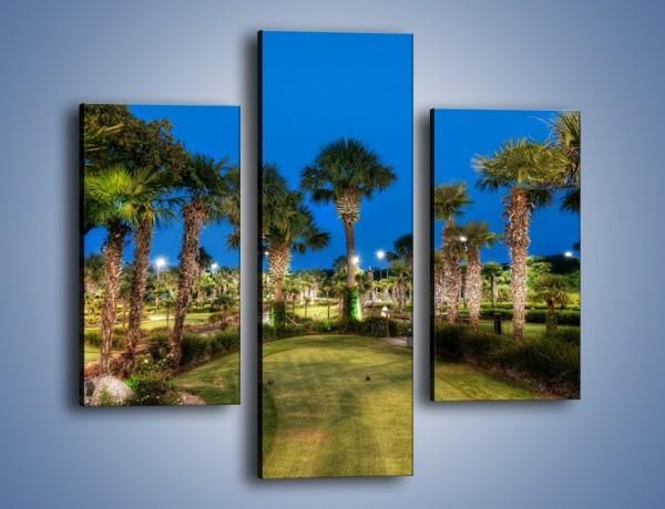 Obraz na płótnie – Zadbana wieczorna zieleń – trzyczęściowy KN1043W3