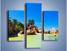 Obraz na płótnie – Bezludna wyspa i ja – trzyczęściowy KN1058W3