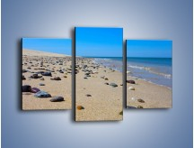 Obraz na płótnie – Całe morze kamyczków – trzyczęściowy KN1086AW3