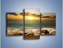 Obraz na płótnie – Brzegiem w stronę morza – trzyczęściowy KN1092AW3