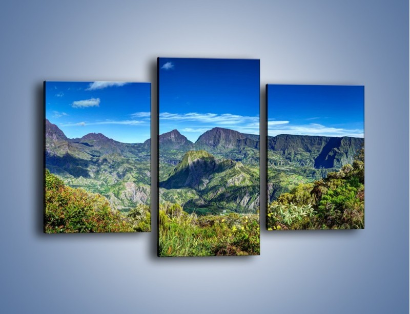 Obraz na płótnie – Zieleń ukryta wysoko w górach – trzyczęściowy KN1106W3