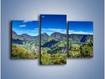 Obraz na płótnie – Cały góry pokryte zielenią – trzyczęściowy KN1140AW3