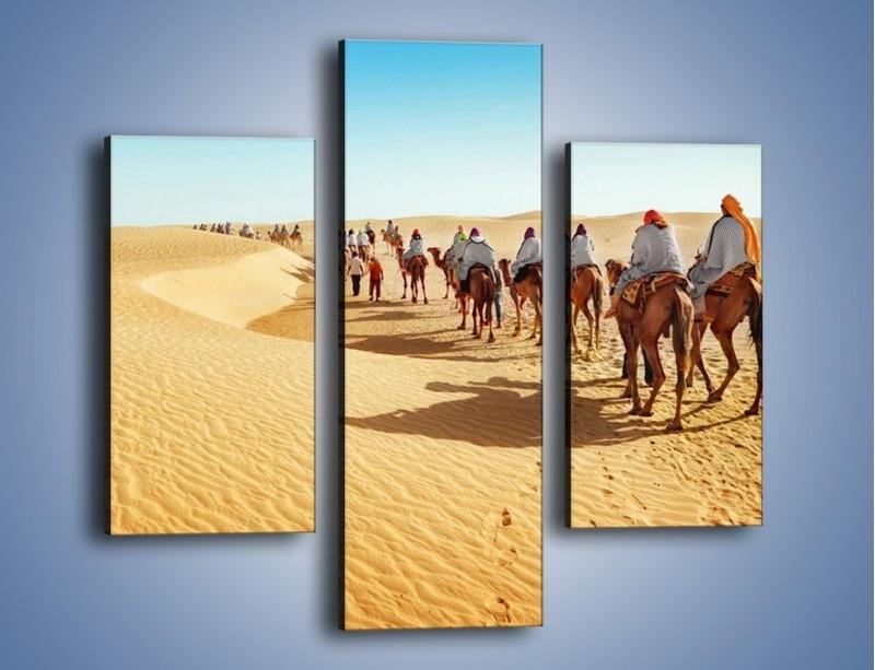Obraz na płótnie – Szła karawana przez pustynię – trzyczęściowy KN1173AW3