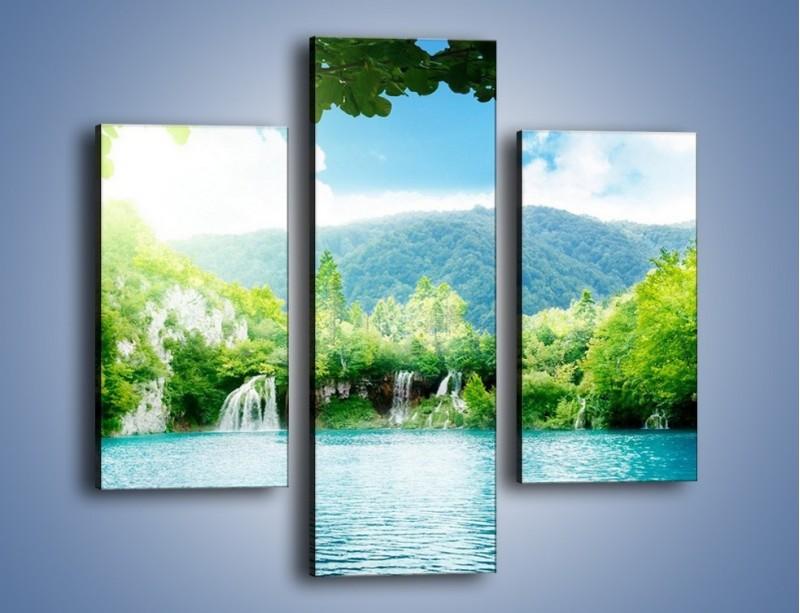 Obraz na płótnie – Kąpiel w chłodnej wodzie – trzyczęściowy KN1200AW3