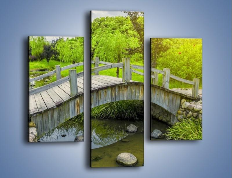 Obraz na płótnie – Mały mostek przez rzeczkę – trzyczęściowy KN1254AW3
