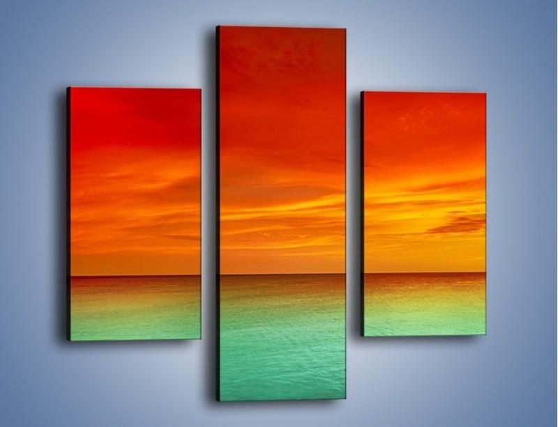 Obraz na płótnie – Horyzont w kolorach tęczy – trzyczęściowy KN1303AW3