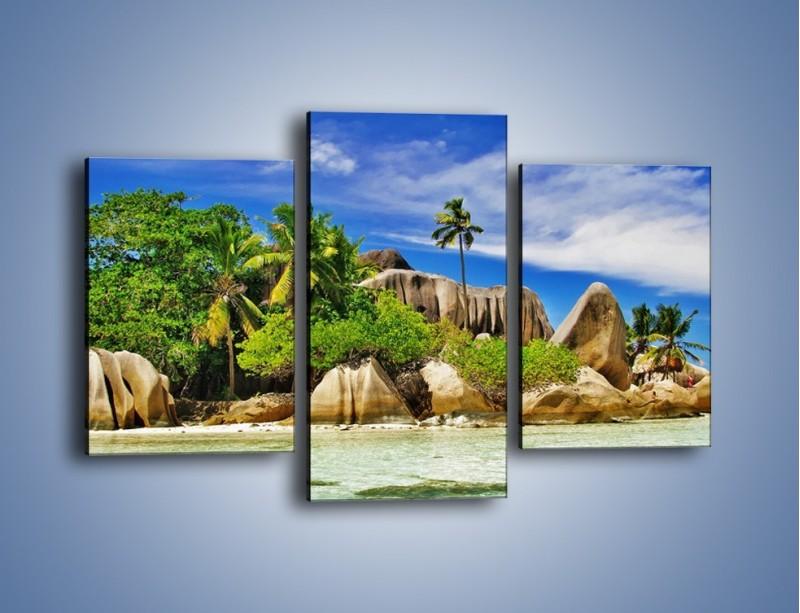 Obraz na płótnie – Tropiki i ich wysokości – trzyczęściowy KN1306AW3