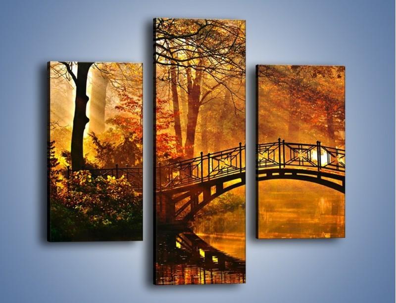 Obraz na płótnie – Cudowny spacer jesienną porą – trzyczęściowy KN1319AW3