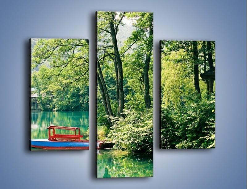 Obraz na płótnie – Wakacje nad jeziorem – trzyczęściowy KN155W3