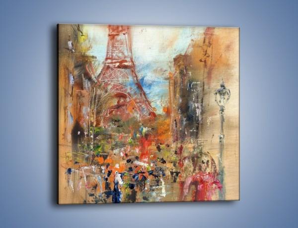 Obraz na płótnie – Paryskie zamieszanie – jednoczęściowy kwadratowy GR498