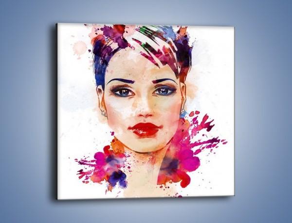 Obraz na płótnie – Piękna kobieta w kolorze – jednoczęściowy kwadratowy GR499