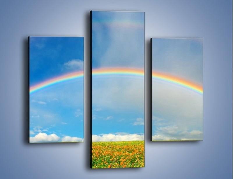 Obraz na płótnie – Urok kolorowej tęczy – trzyczęściowy KN406W3