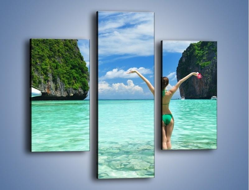 Obraz na płótnie – Udane wakacje w ciepłych krajach – trzyczęściowy KN530W3