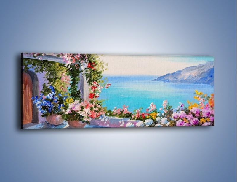 Obraz na płótnie – Bajeczny widok z tarasu – jednoczęściowy panoramiczny GR626
